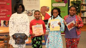 Page Turners Event - Children showing Books