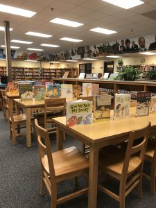 School library set up for Event
