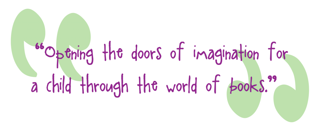 Opening the doors of imagination for a child through the world of books